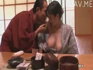 briunetė, japonijos, blowjob
