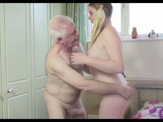 Horký starý člověk n mladý fena