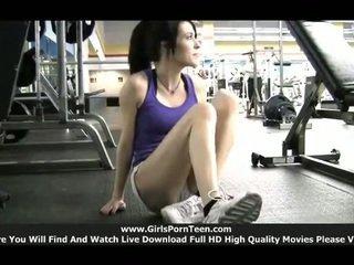 sport, gym, solo girls