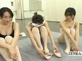 Subtitled enf jepang ballerinas stark naked stripping