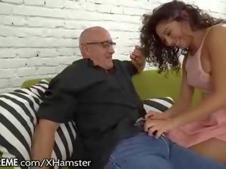 Ravenous Mexican Teen Squirts for Grandpa: Free HD Porn 9f