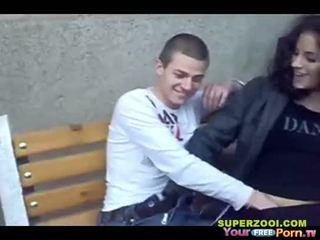 Bulgarian teen public sex