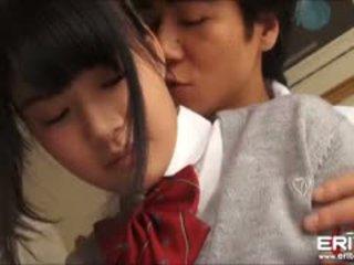 Supercute ιαπωνικό κορίτσι του σχολείου itsuka πατήσαμε και creampied