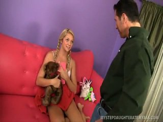 Blonde Stepdaughter Turns Into Total Whore