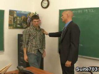 Gej učitelj troy fukanje študent william težko