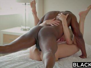 Blacked غش جبهة مورو brandi loves الأول كبير أسود كوك