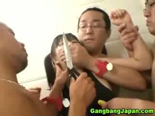 Aziatisch slet groep grope orgie