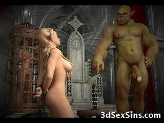 3d evil creatures neuken elf meisjes!