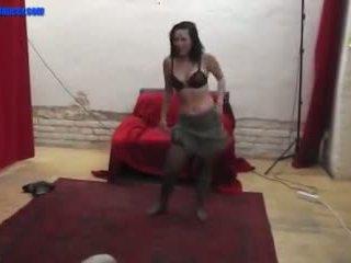Czech newbie doing a sexy teasing lapdance