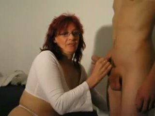 German granny perfectly sucked on young cock