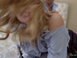Brattysis - con gái wants trừng phạt quái từ bước đi cha.