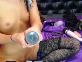 Asian Fucks Hitachi Huge Toy and Fist, HD Porn 63