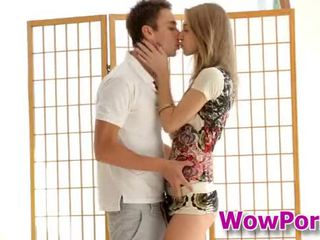 Amazingly gyzykly ýaşlar anjelica blows a sik and gets fucked