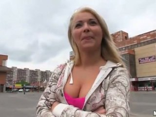 Cute Czech girl Lana fucked for money