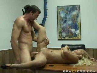 Lovely busty blonde slut fucking hard and getting cumshot on her mouth