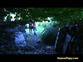 Forest threesome with Papy fucking doll Video