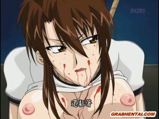 Tied Up Hentai Gets Ass Injection With An Enema