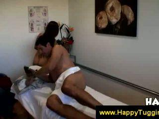 Thai masseuse gives blowjob for cash