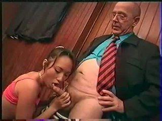 Professor fondles sniffs licks और fingers bamboo