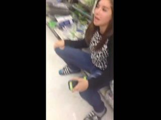 Teen Pisses Her Jeans In Walmart