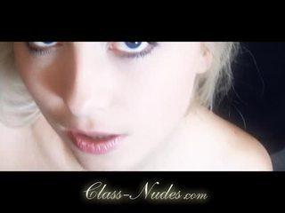 Salacious Blonde Lianna Strip And Tease With Lust