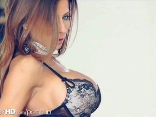 brunette, lồn, bộ ngực to
