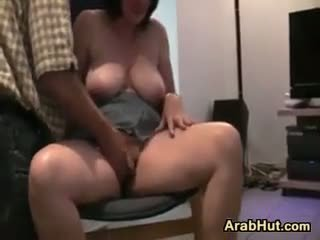 brunette, big boobs, fingering