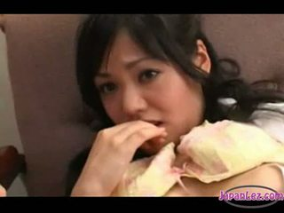 Asian girl fingered licked by 2 doctors on the chair