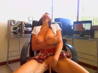 Busty schoolgirl orgasm on webcam part 1 / watch part 2 crazyhotcams.com