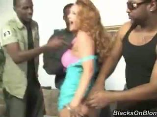 sexo grupal, gang bang, interracial